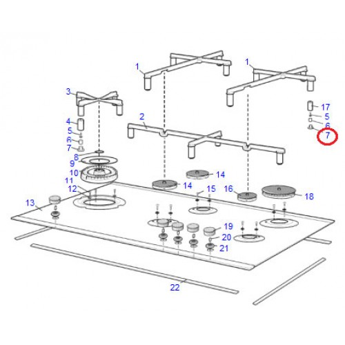 Electrolux Rubber Foot Cast Trivet 305437300