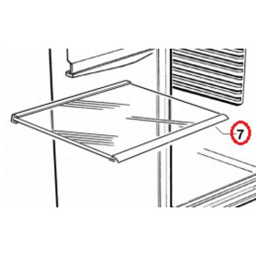 813986 Glass Fridge Shelf 525
