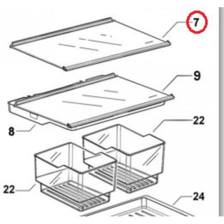 838362P Glass Shelf