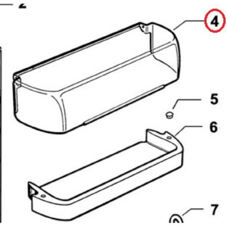 876253 Door Shelf Cover