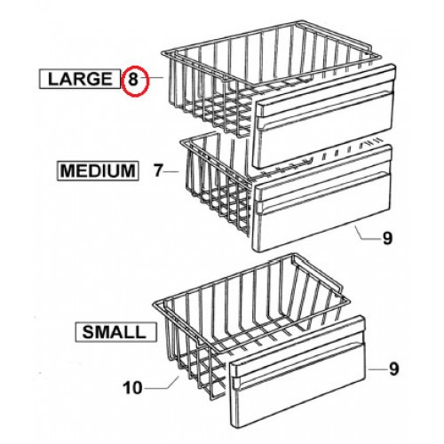 882289 Freezer Basket