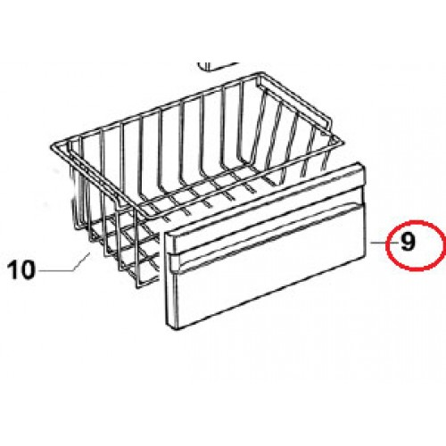 882766 Freezer Basket Trim