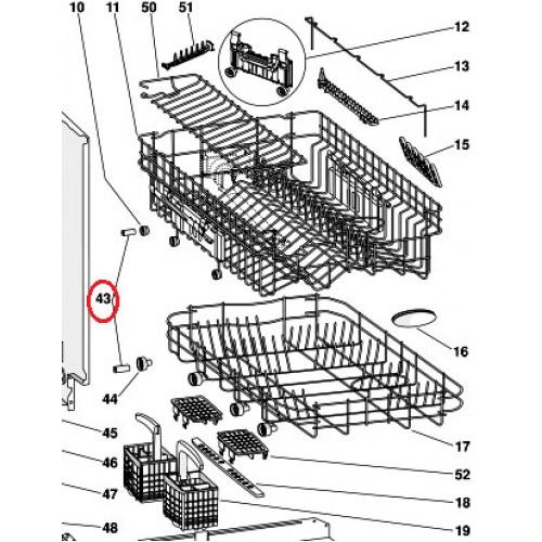 MSP 104638 Basket Roller Axle